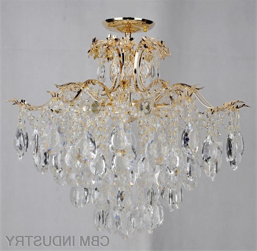 Chandelier For Low Ceiling Glass Drop Lighting Om88441 600 19 Intended For Most Up To Date Low Ceiling Chandeliers (View 6 of 15)