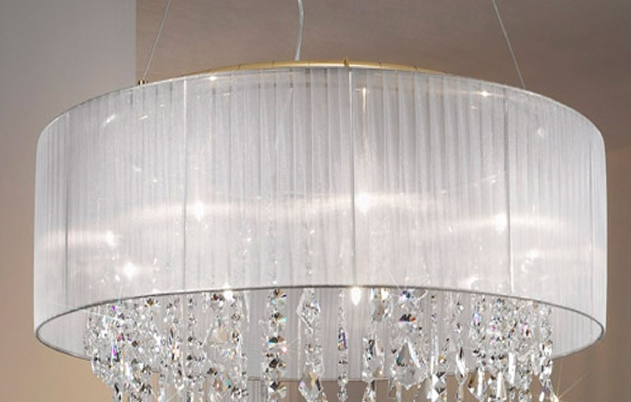 Chandelier : Shades Black Lampshade With Crystal Beads And Tassels Regarding Best And Newest Lampshades For Chandeliers (View 2 of 15)