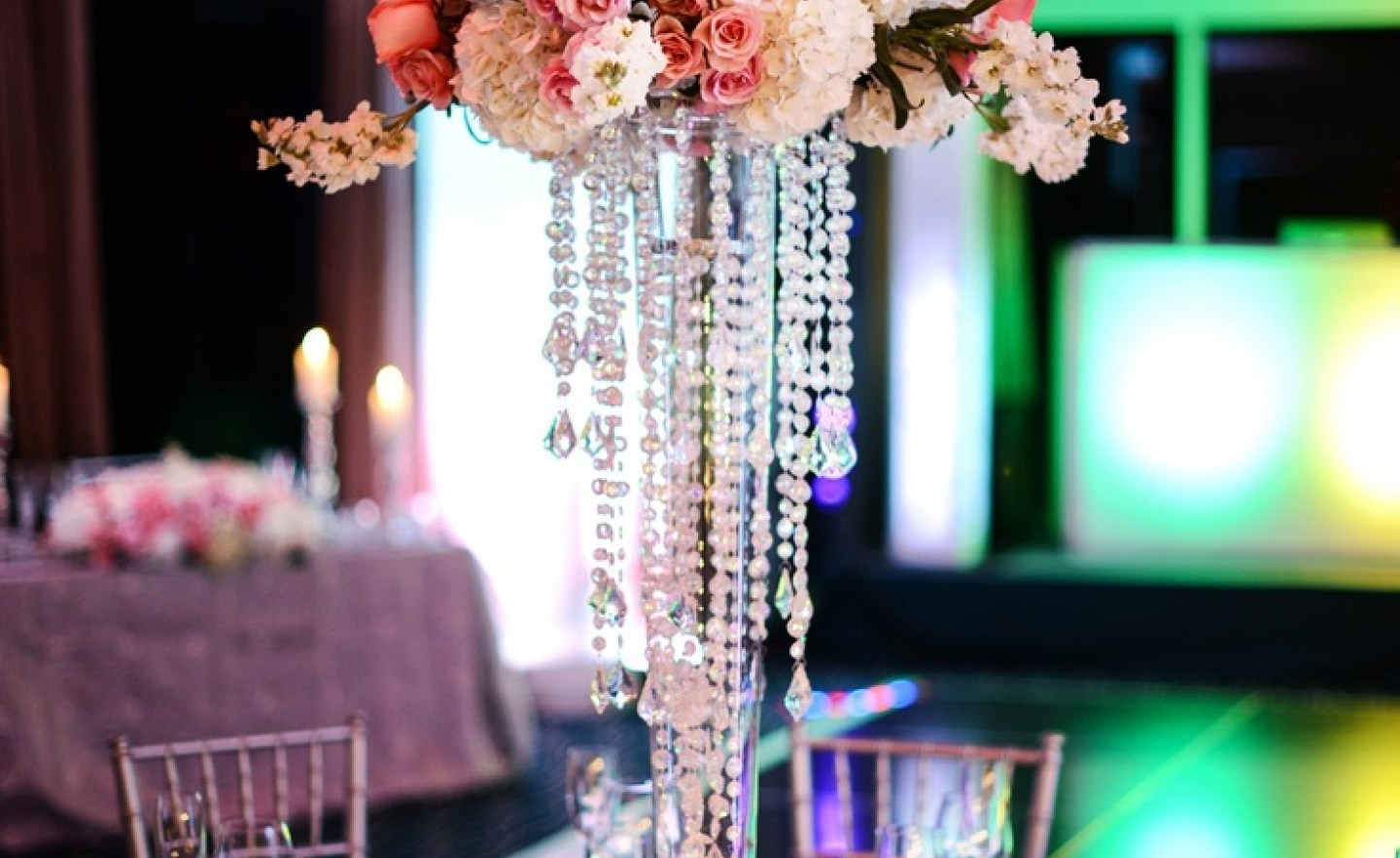Chandelier : Stunning Faux Crystal Chandelier Wedding Bead Strands Pertaining To Most Current Faux Crystal Chandelier Centerpieces (View 3 of 15)