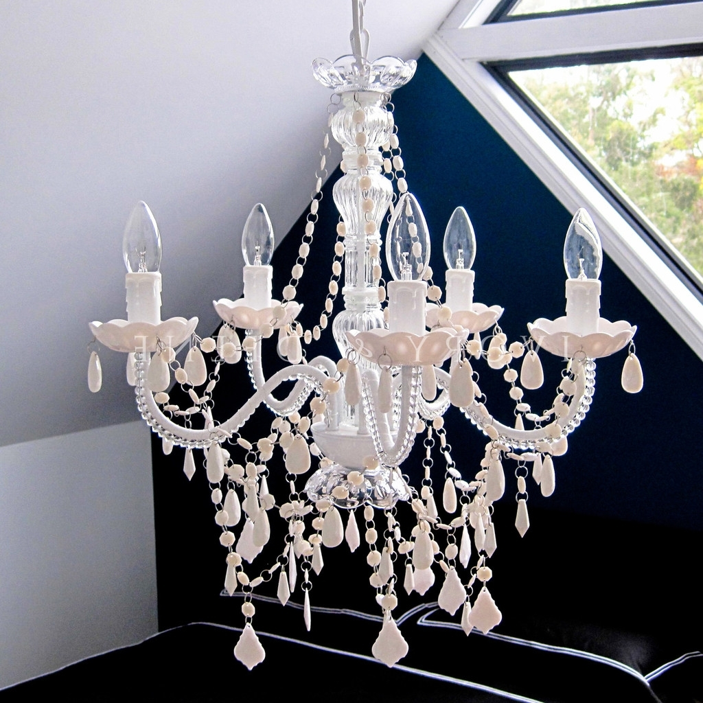 Chandeliers And French Provincial With Regard To White And Crystal Chandeliers (View 4 of 15)