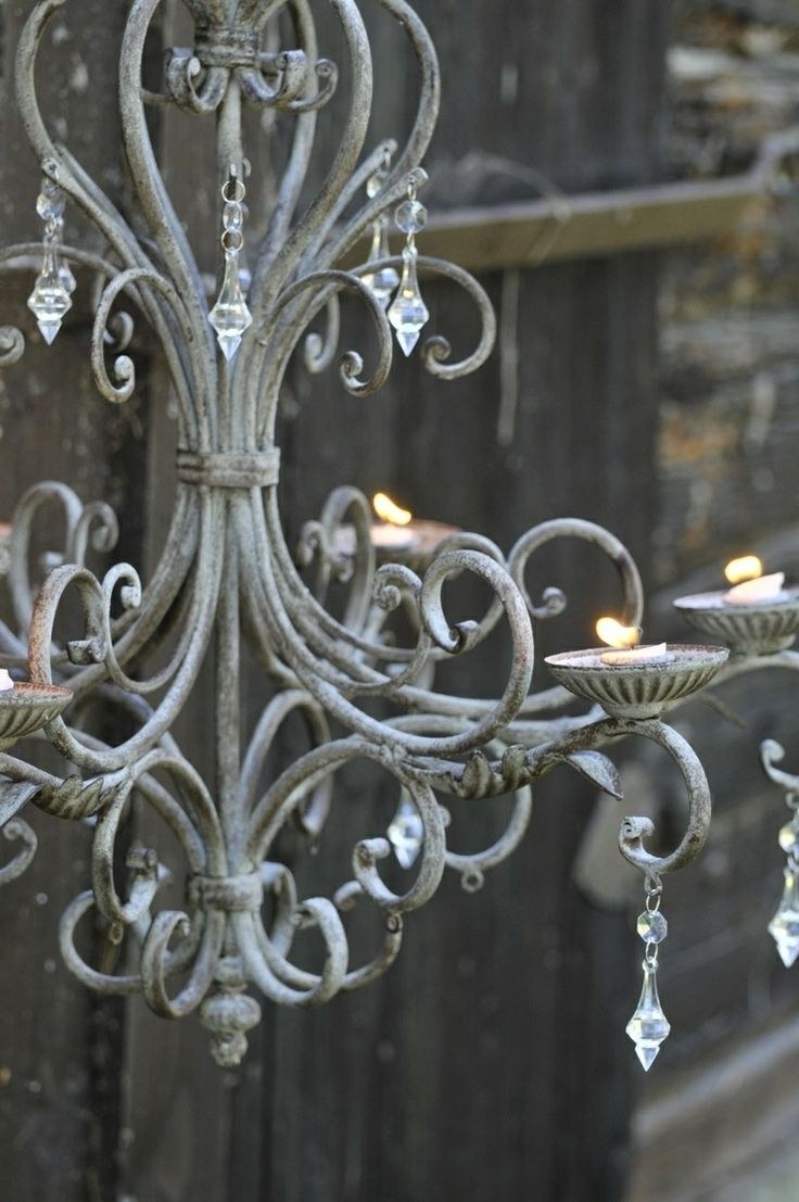 Chandeliers, Antique Throughout Trendy Metal Ball Candle Chandeliers (View 5 of 15)