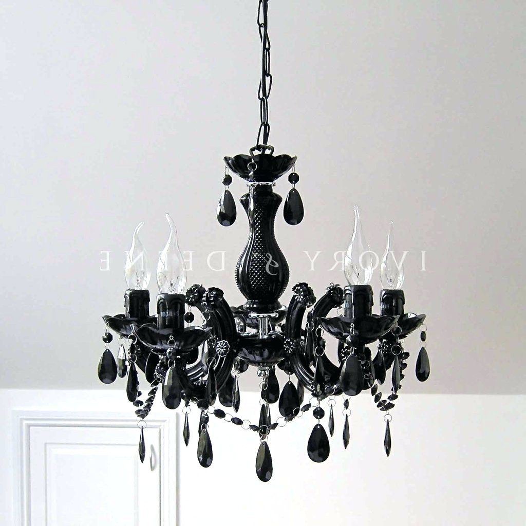Chandeliers ~ Black Chandelier Bedside Lamps Small Black Chandelier Regarding Most Recent Vintage Black Chandelier (View 14 of 15)