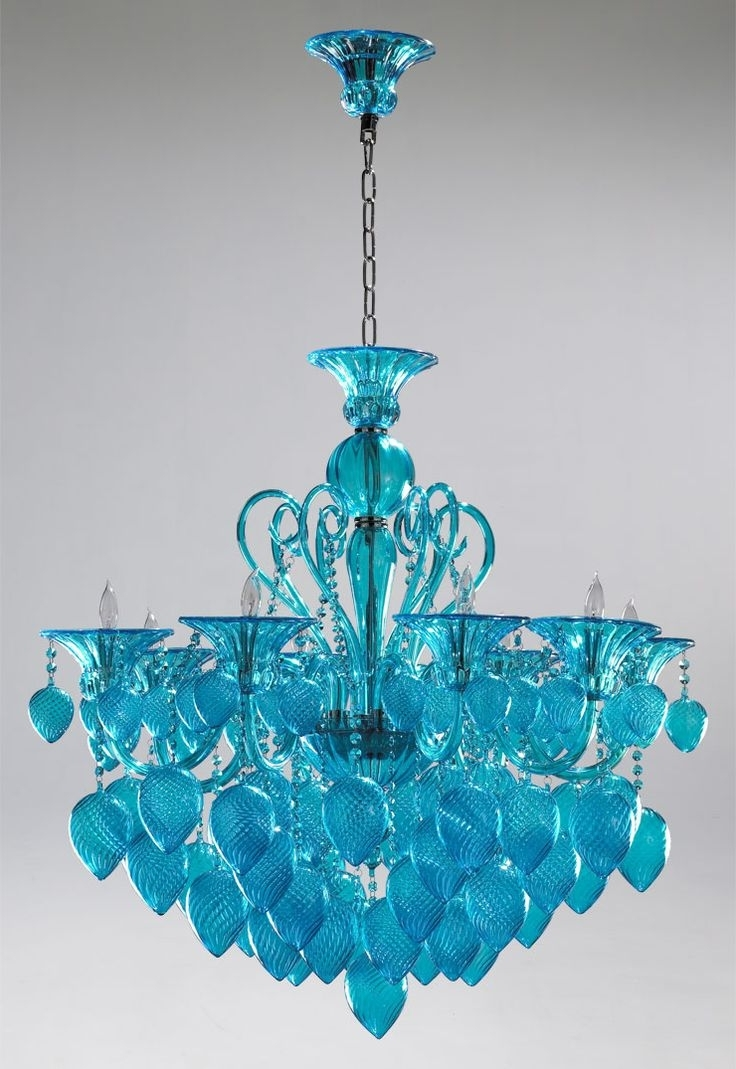Chandeliers, Blue (View 3 of 15)