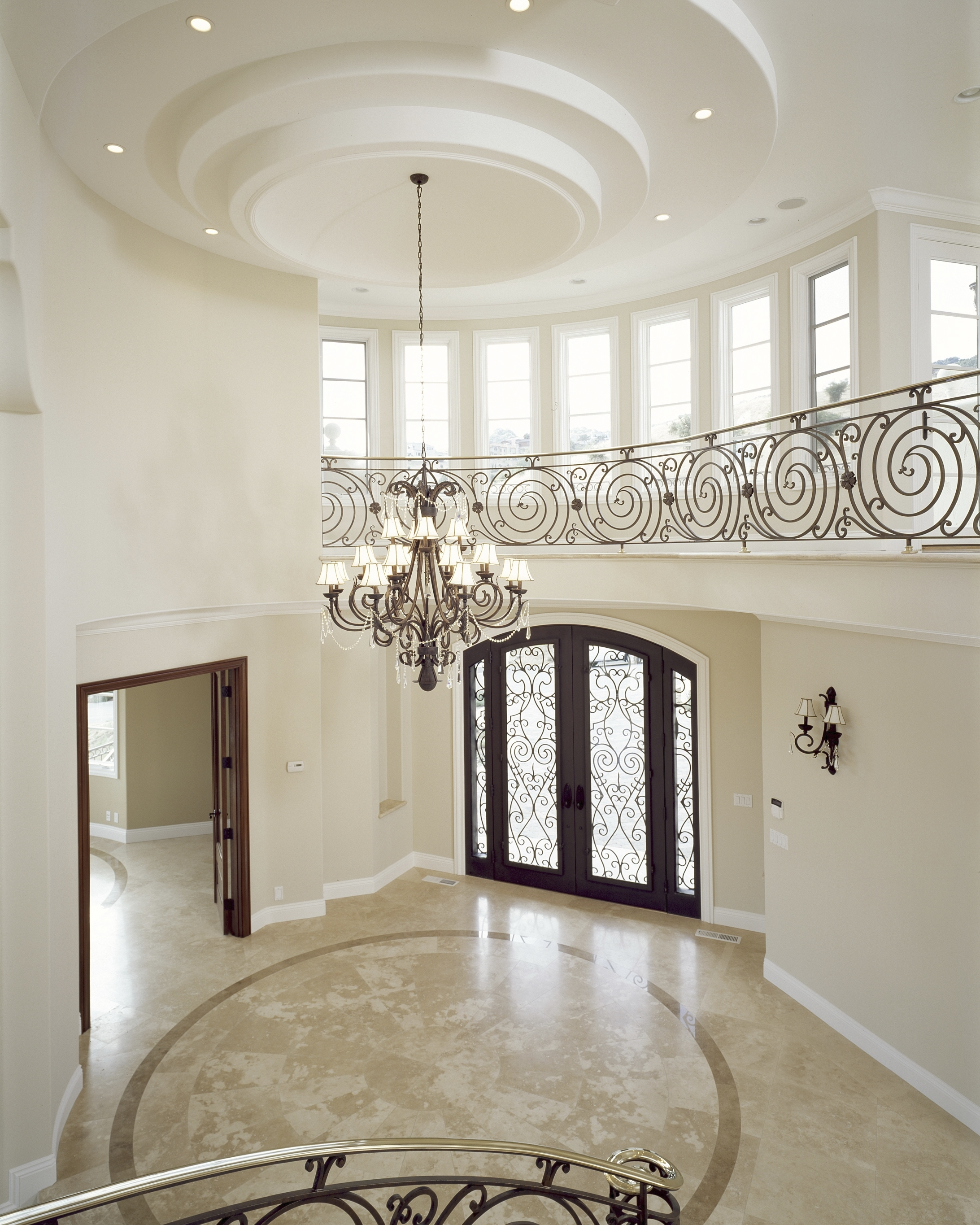 Chandeliers Design : Amazing Brown Iron Holder Entryway Chandelier Intended For Latest Small Hallway Chandeliers (View 2 of 15)