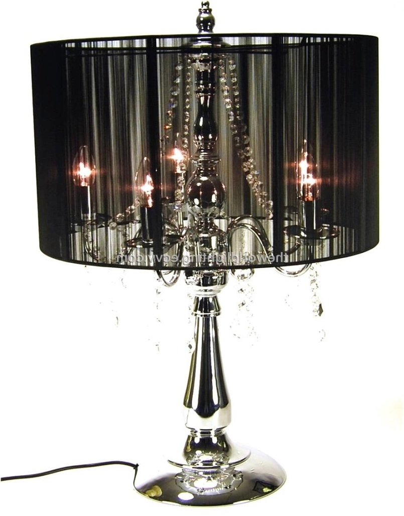 Chandeliers Design : Awesome Crystal Shade Floor Lamp With Lights Regarding Newest Small Crystal Chandelier Table Lamps (View 2 of 15)