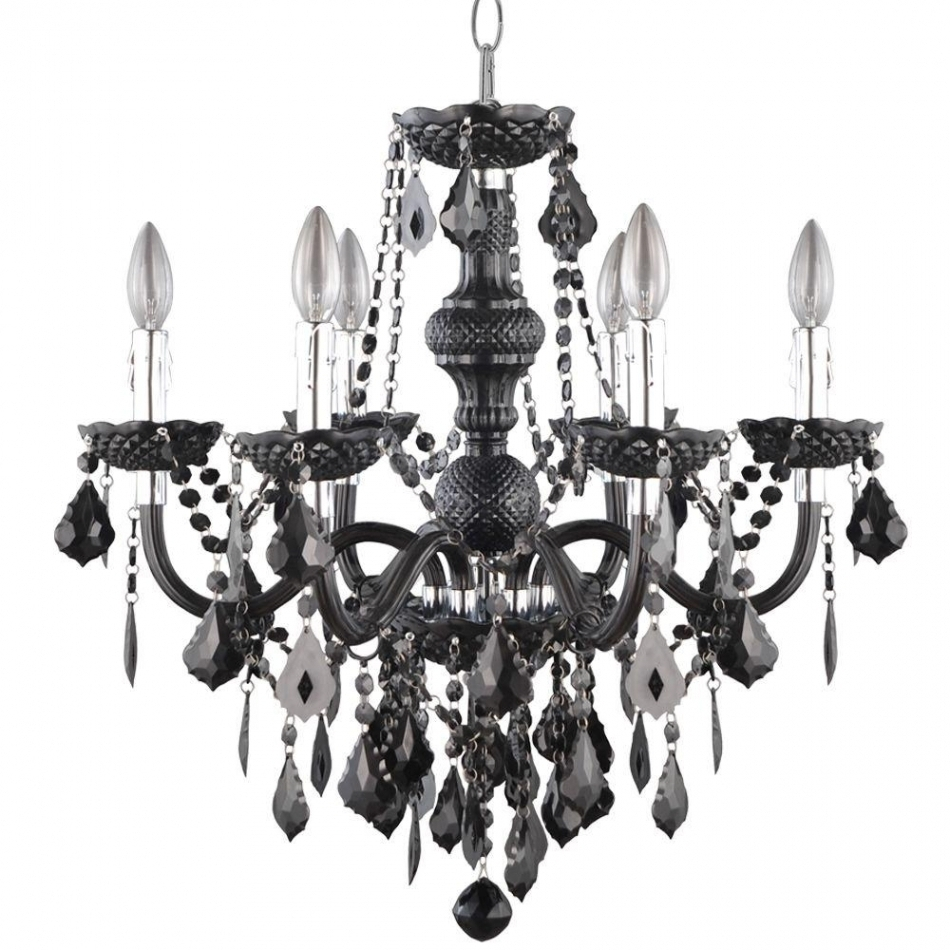 Chandeliers Design : Awesome Wrought Iron Candle Chandelier Non With Regard To Widely Used Hanging Candelabra Chandeliers (View 11 of 15)