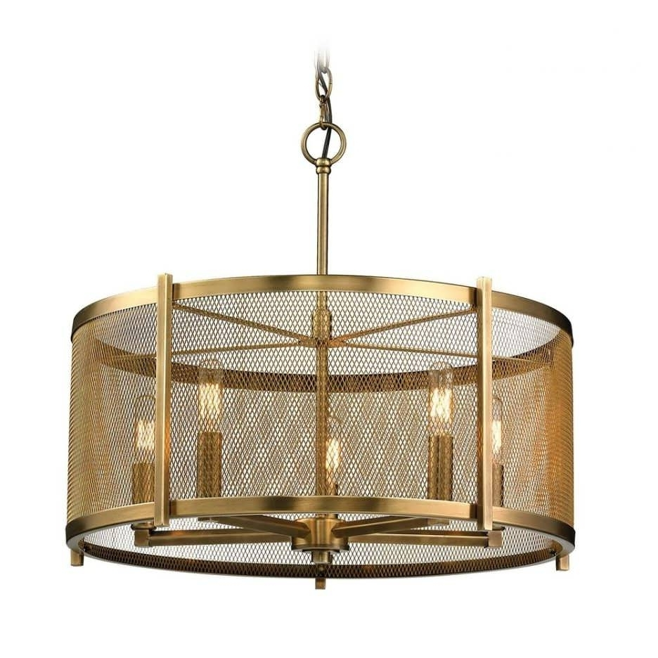 Chandeliers Design : Fabulous Cylinder Pendant Light Small With 2017 Metal Drum Chandeliers (View 3 of 15)