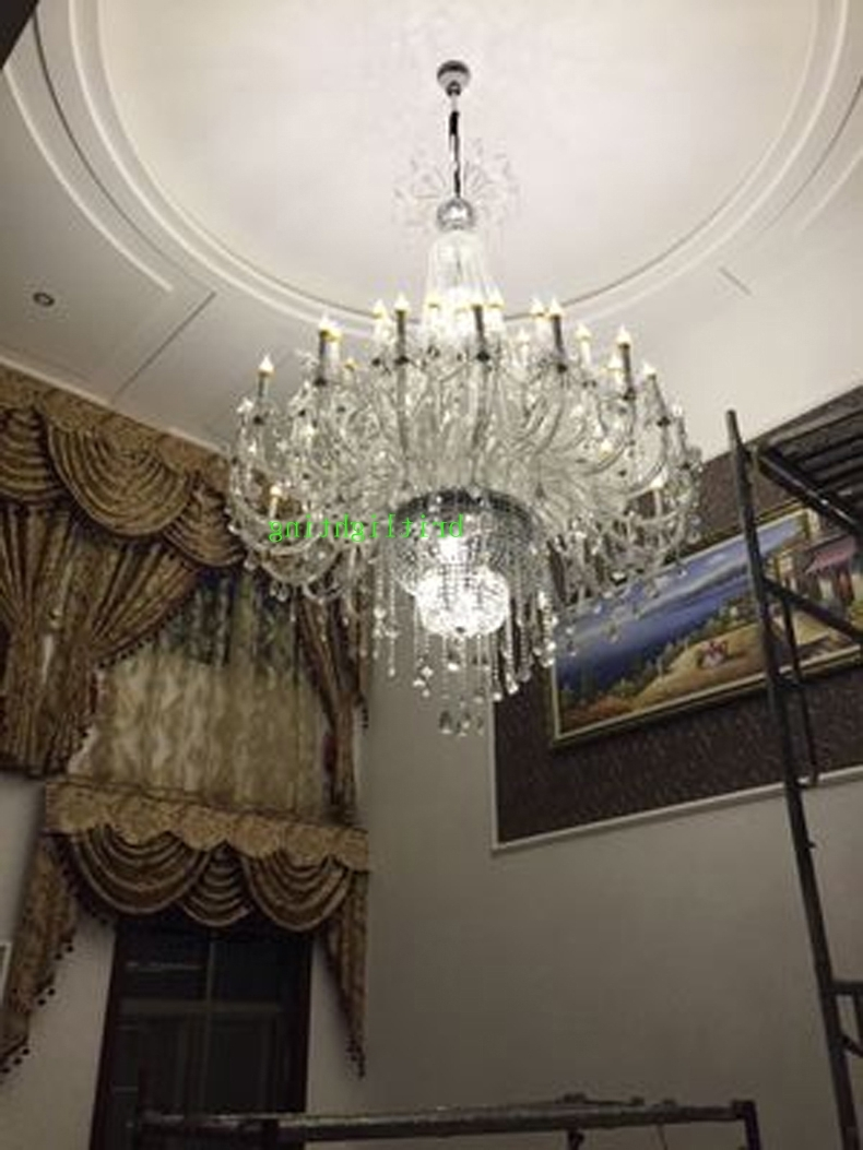 Chandeliers Design : Fabulous Modern Large Chandeliers Crystal Pertaining To 2017 Modern Large Chandelier (View 3 of 15)