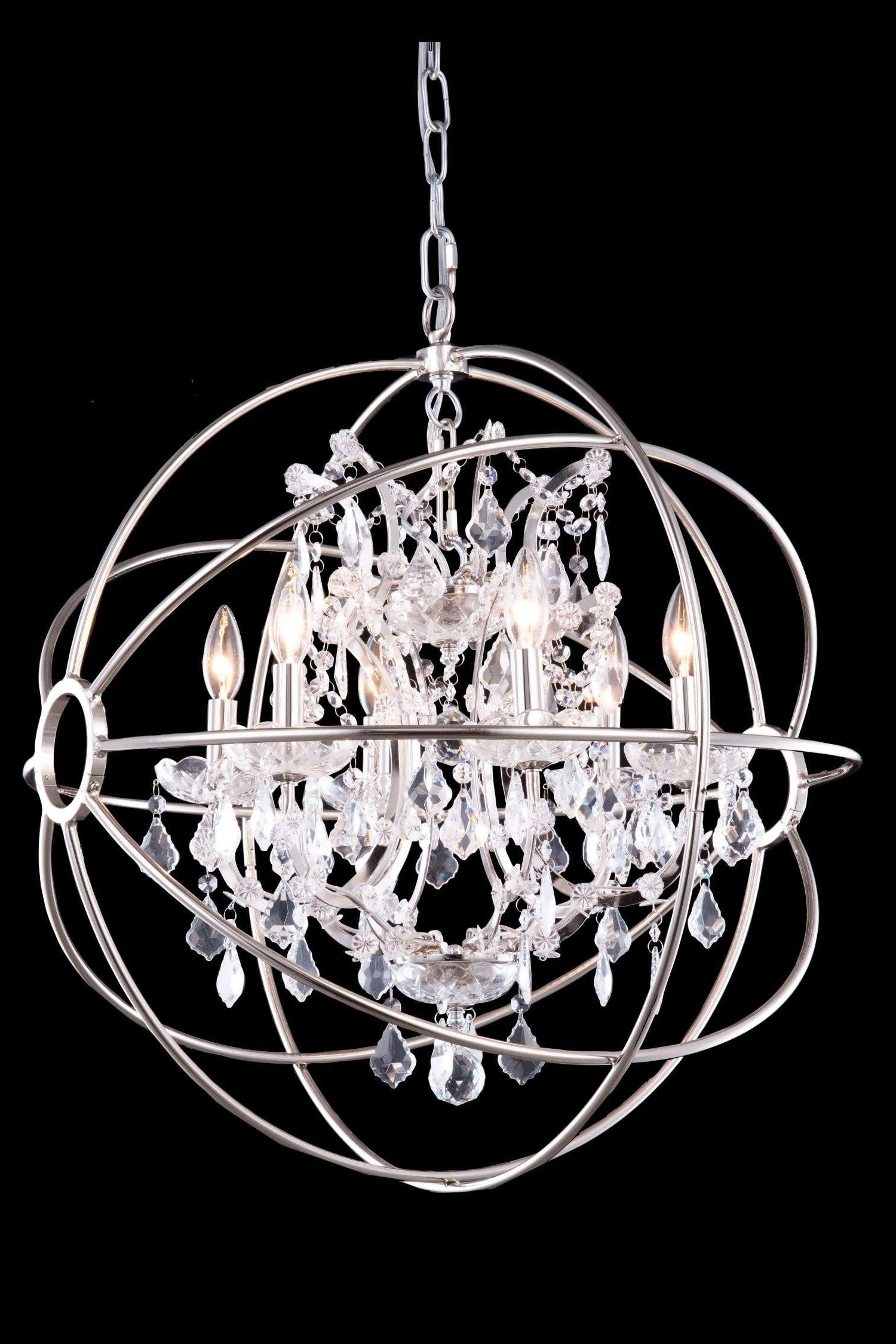 Chandeliers Design : Magnificent Beautiful Metal Ball Candle Intended For 2017 Metal Ball Candle Chandeliers (View 4 of 15)