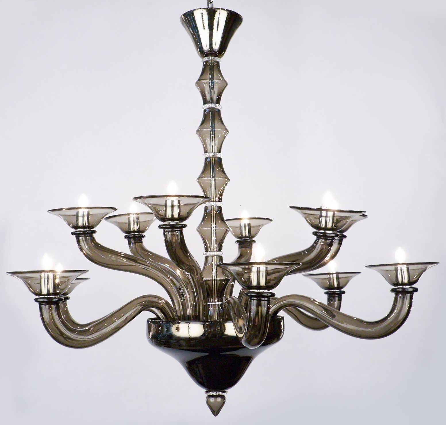 Chandeliers Design : Magnificent Blown Glass Chandelier Drum With Latest Modern Italian Chandeliers (View 14 of 15)