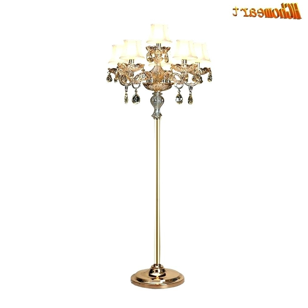Chandeliers Design : Magnificent Floor Lamps Chrome Crystal Lamp For Most Current Standing Chandeliers (View 15 of 15)