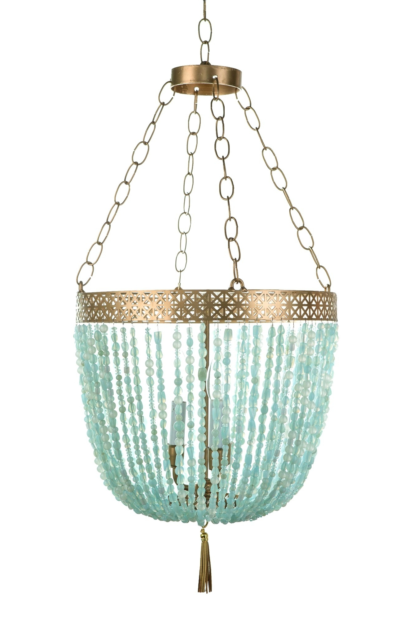 Chandeliers Design : Magnificent Stylish Repair Turquoise Chandelier Throughout 2017 Turquoise And Gold Chandeliers (View 7 of 15)