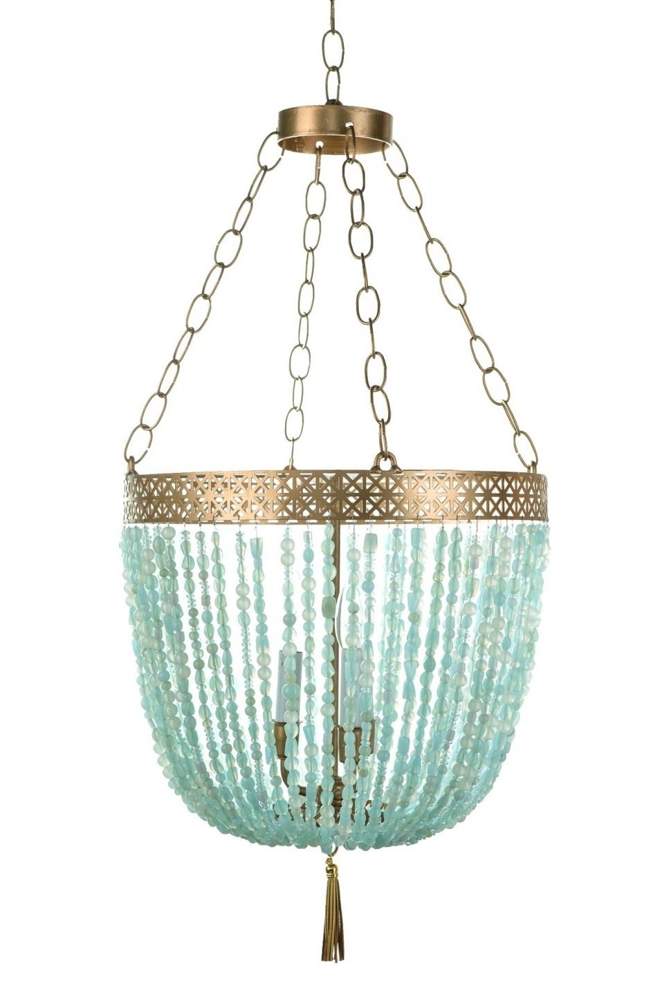 Chandeliers Design : Magnificent Turquoise Blue Chandelier Light Intended For Current Turquoise Blue Beaded Chandeliers (View 3 of 15)
