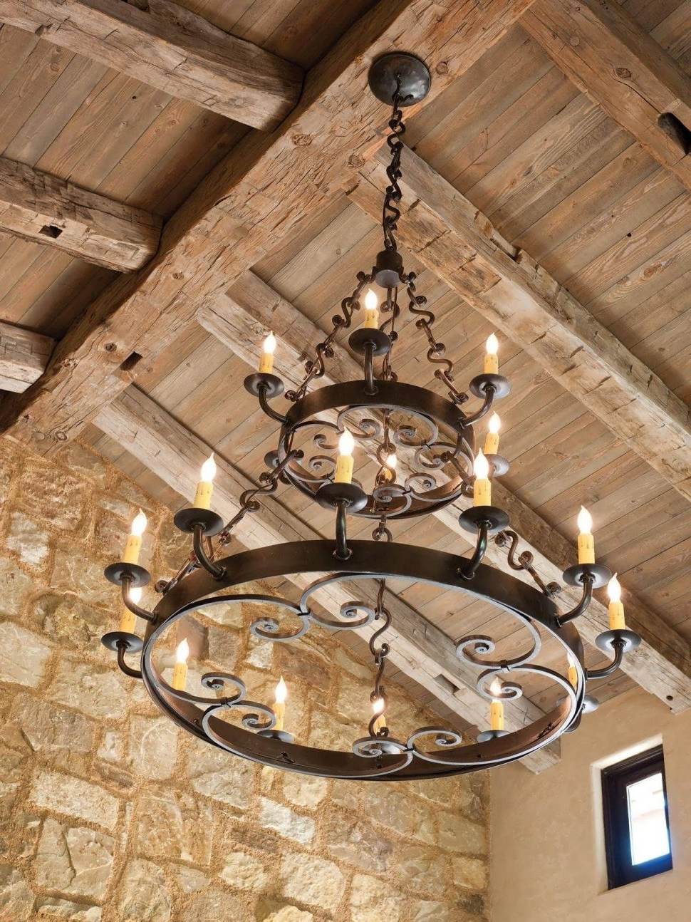 Chandeliers Design : Wonderful Rustic Dining Room Light Fixtures For Best And Newest Large Iron Chandeliers (View 5 of 15)