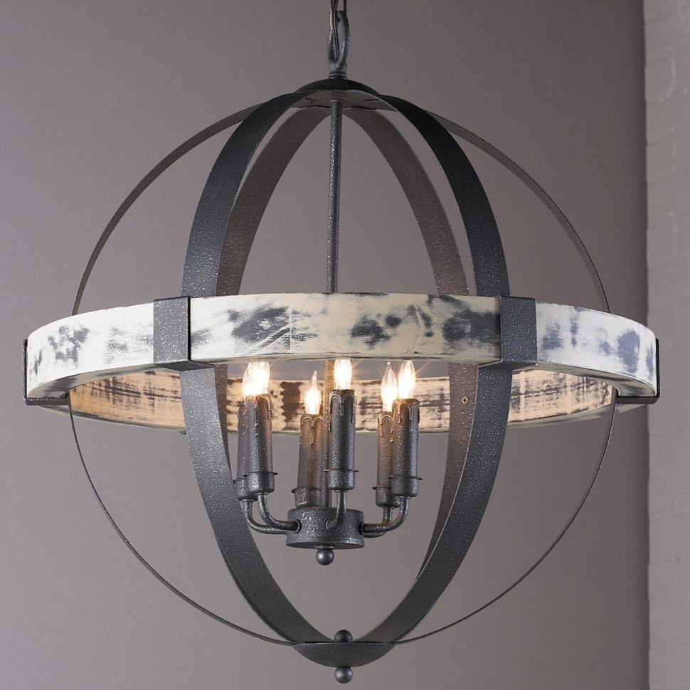 Chandeliers : Iron Chandelier Awesome Aspen Wrought Iron Globe For Famous Large Iron Chandeliers (View 4 of 15)