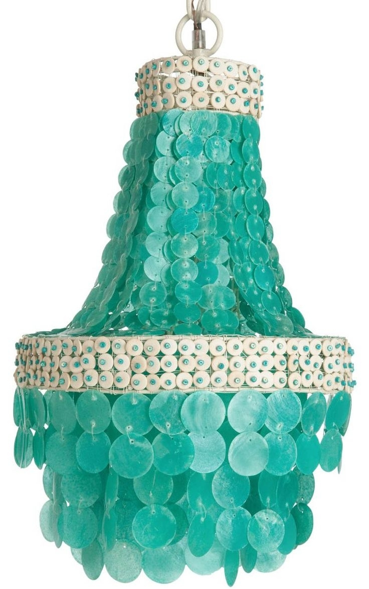 Chandeliers, Light pertaining to Small Turquoise Beaded Chandeliers
