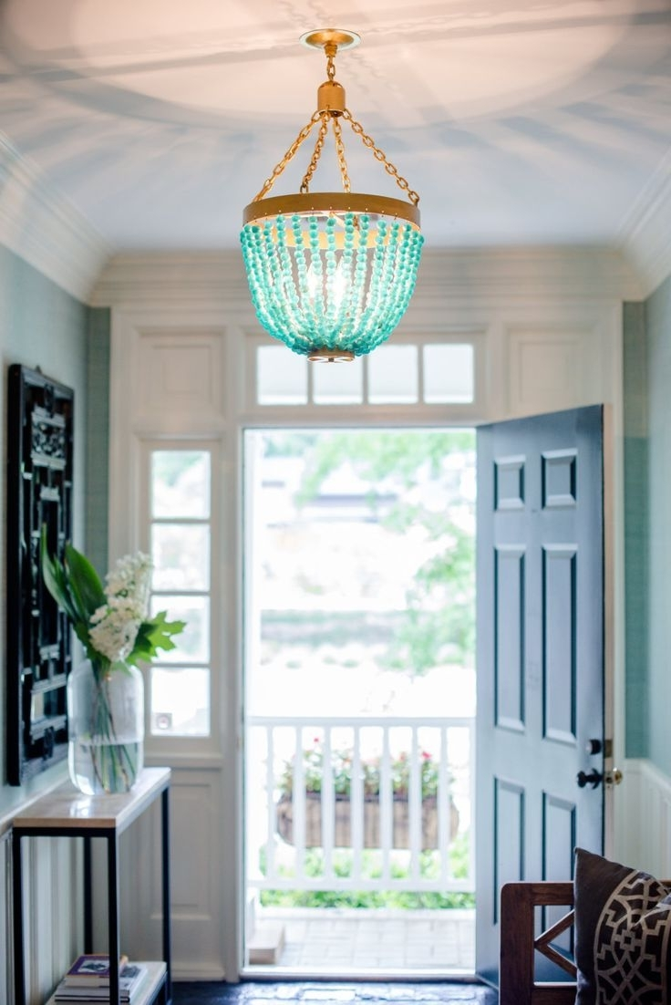 Chandeliers, Light Throughout Preferred Turquoise Blue Beaded Chandeliers (View 4 of 15)