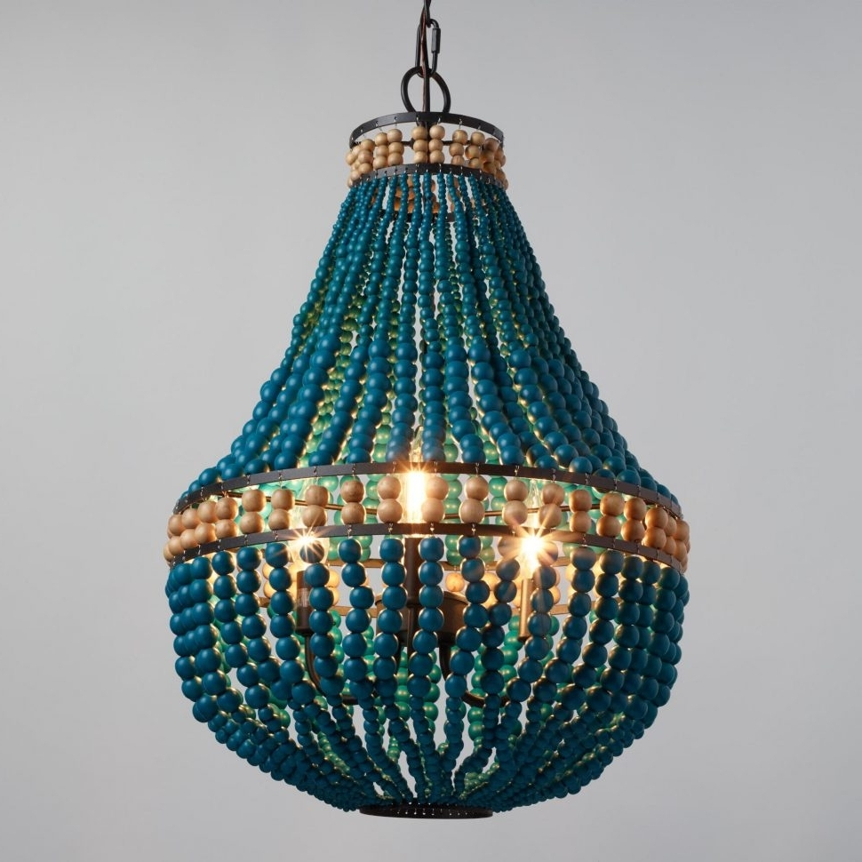 Chandeliers : Teal Chandelier Beautiful Kids Room Glamorous 4 Light Within Most Recently Released Large Turquoise Chandeliers (View 6 of 15)