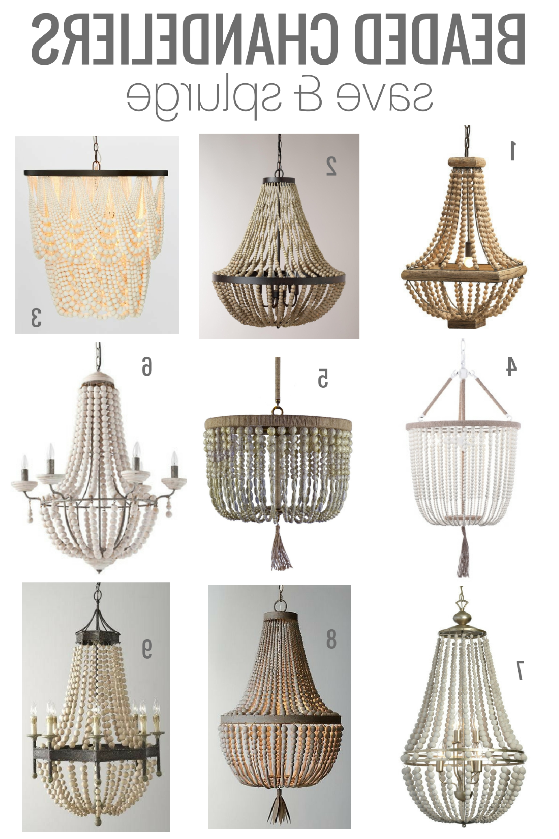 Chandeliers With Most Current Turquoise Wood Bead Chandeliers (View 12 of 15)