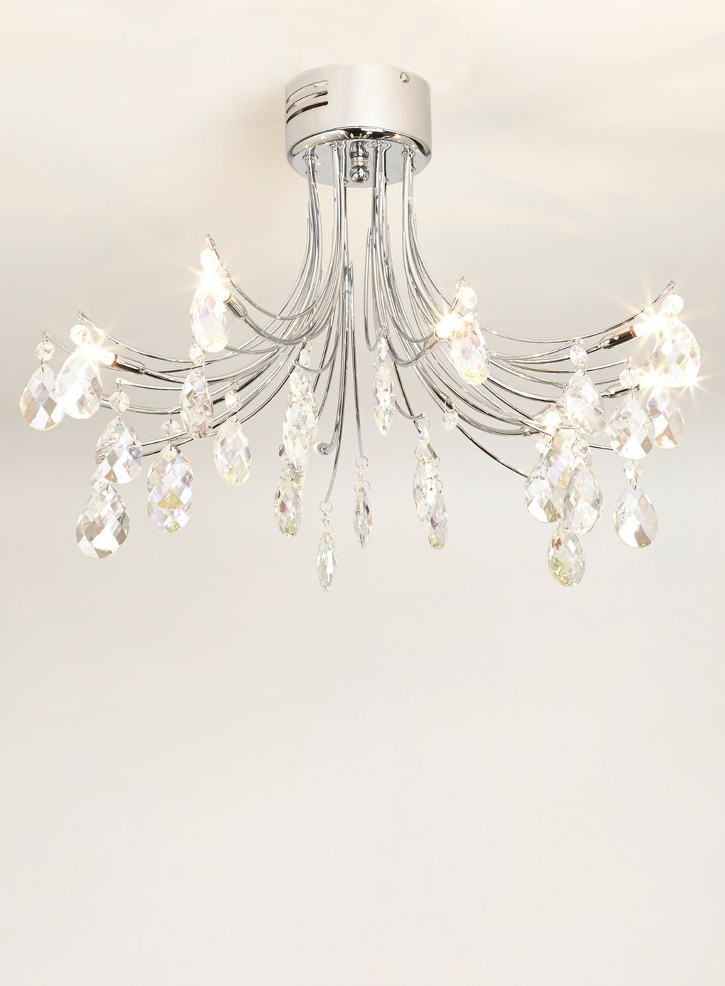 Chrome Ina Flush Ceiling Light Fitting – Bhs (View 13 of 15)