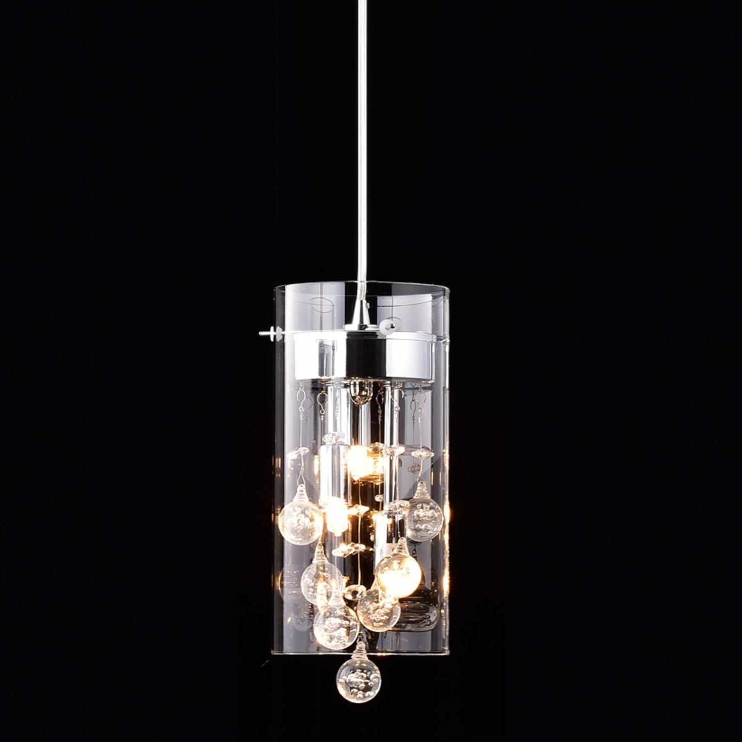 Claxy Ecopower Lighting Glass & Crystal Pendant Lighting Modern Intended For Most Recent Modern Light Chandelier (View 11 of 15)