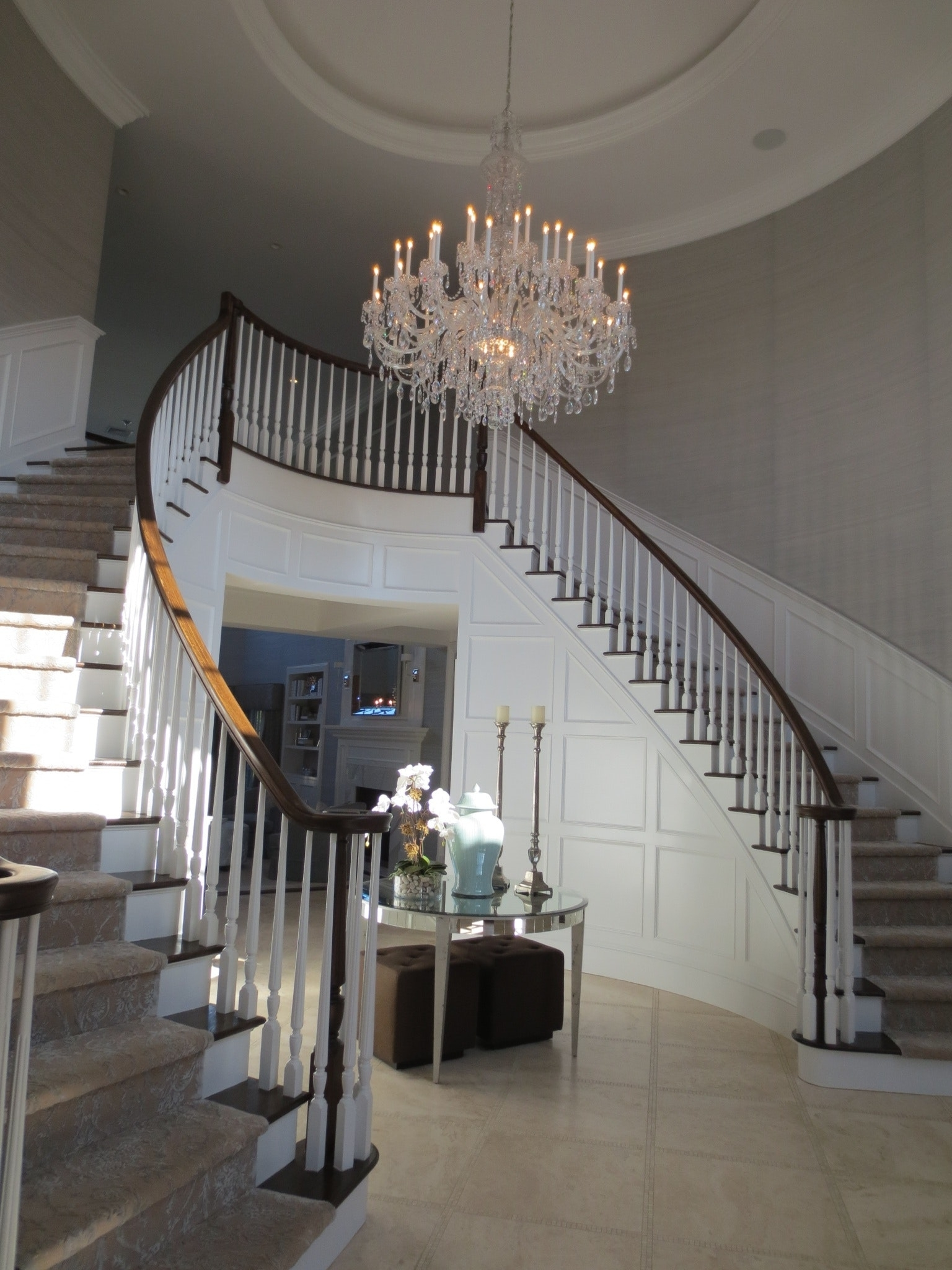 Compare S On Indoor Staircase Lighting Ping Image With Outstanding Pertaining To Well Known Stairway Chandelier (View 3 of 15)