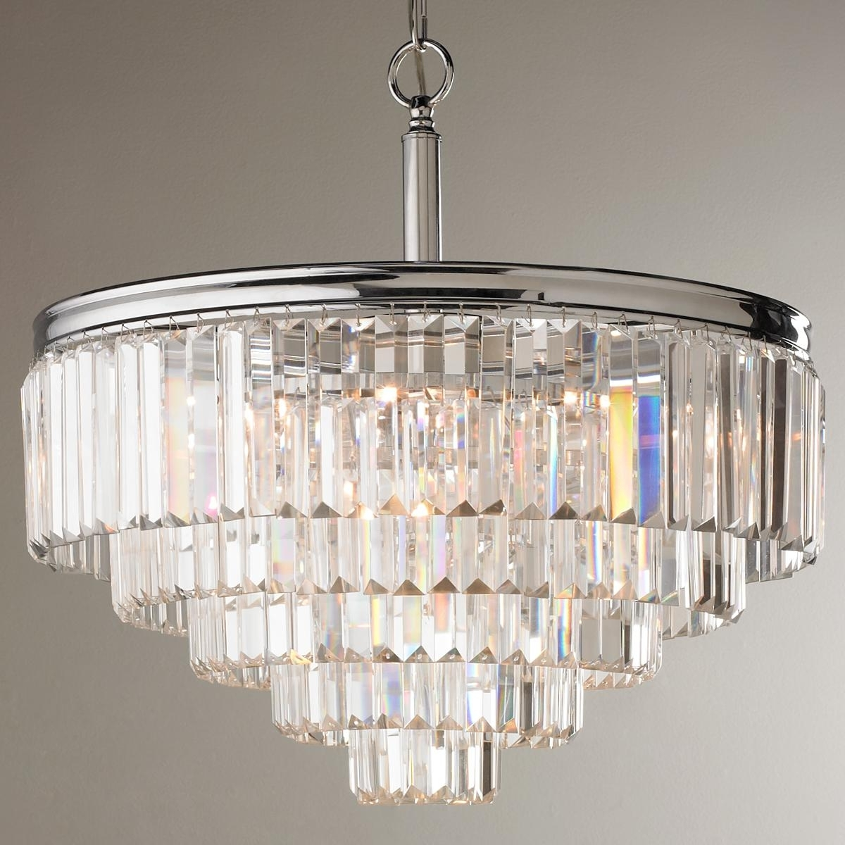 Convertible Throughout Modern Glass Chandeliers (View 6 of 15)