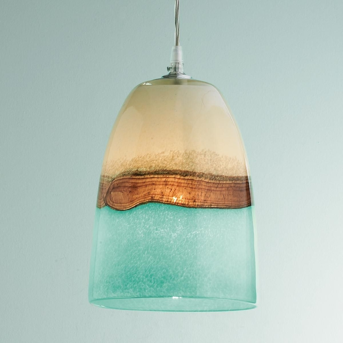 Cream Art, Glass Pendants And (View 14 of 15)