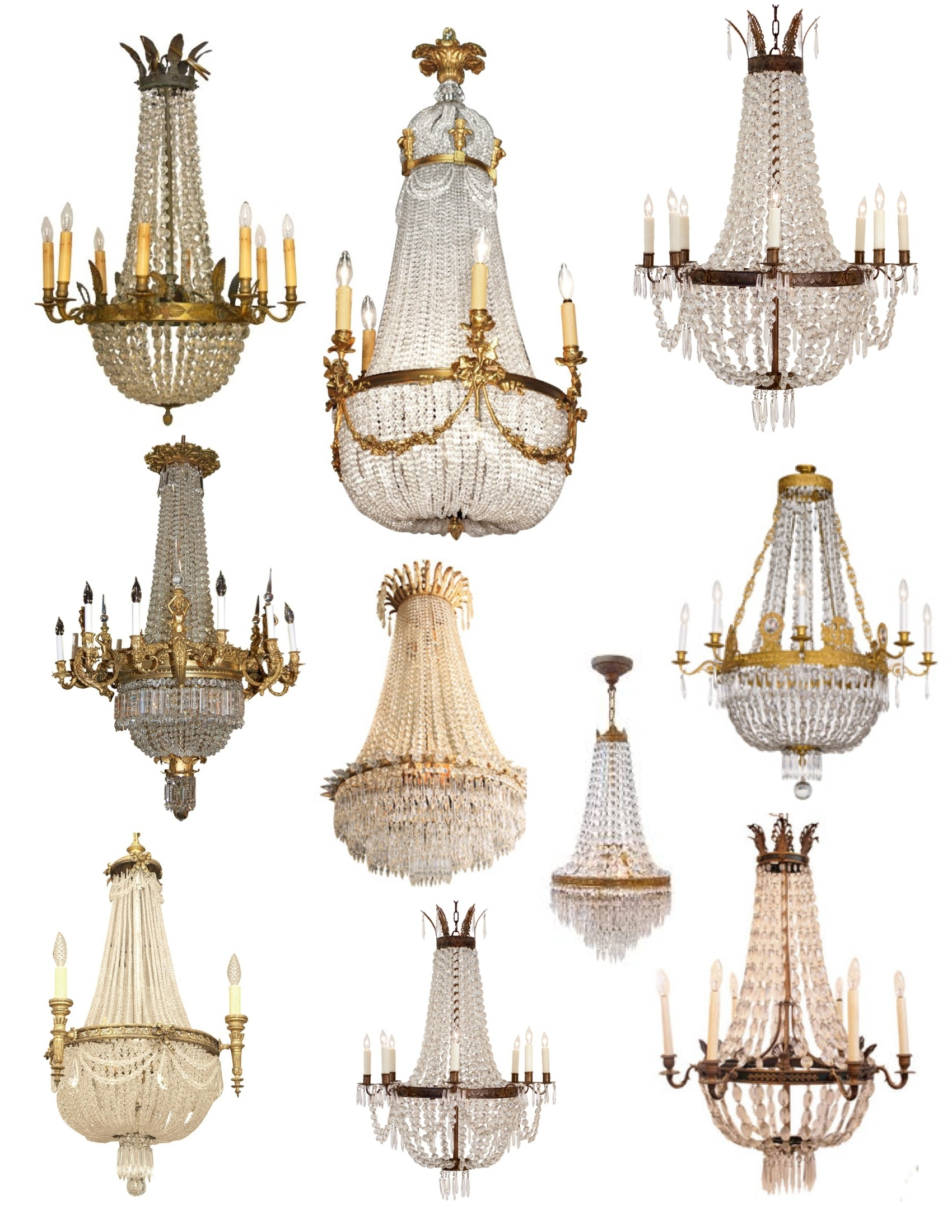 "Crowned"" Magnificence: The French Empire Crystal Chandelier (View 12 of 15)"