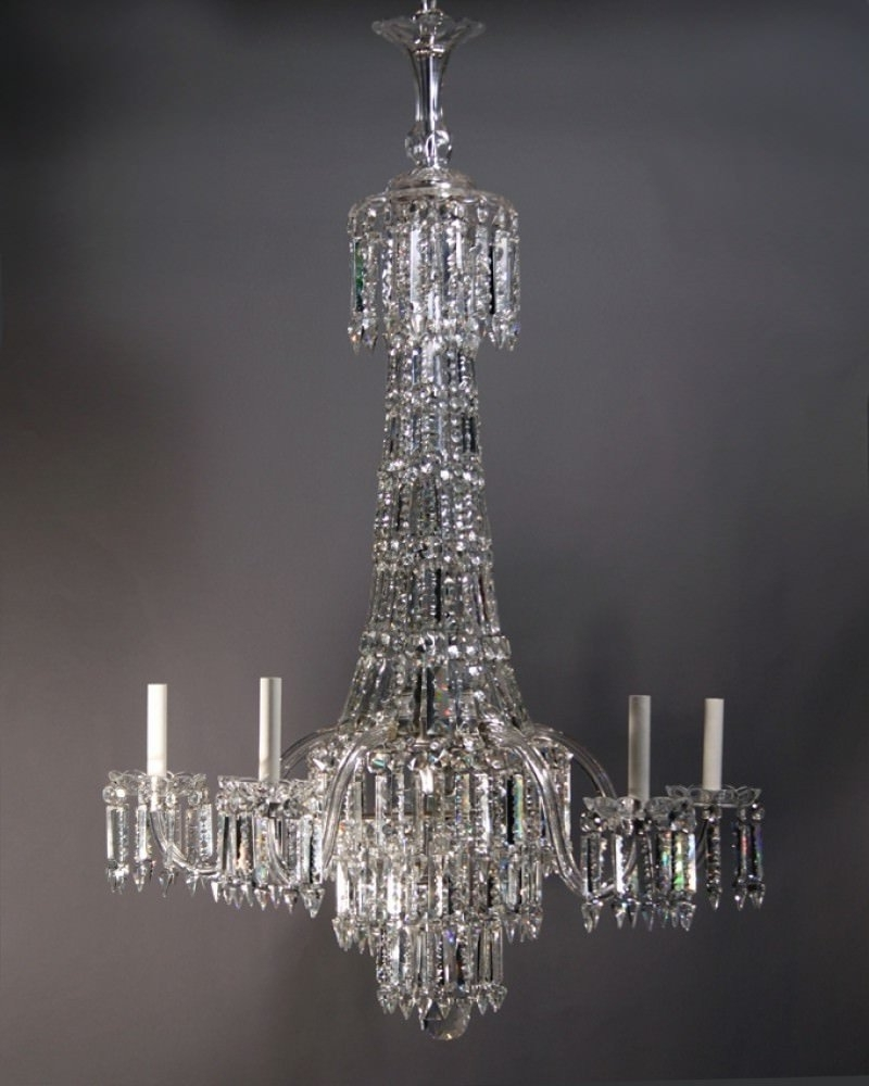 Crystal Chandelier, Large Antique Crystal Chandelier Pertaining To Preferred Georgian Chandelier (View 1 of 15)