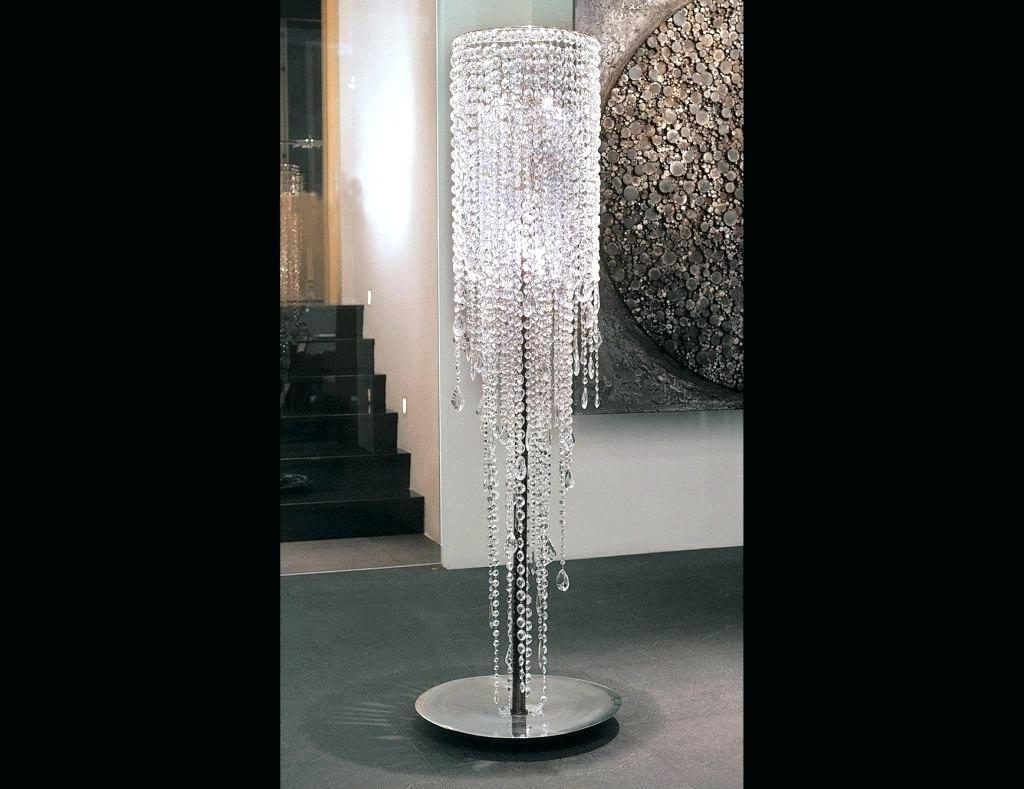 Crystal Chandelier Standing Lamps Stand Up Full Size Of With Design In Widely Used Stand Up Chandeliers (View 4 of 15)