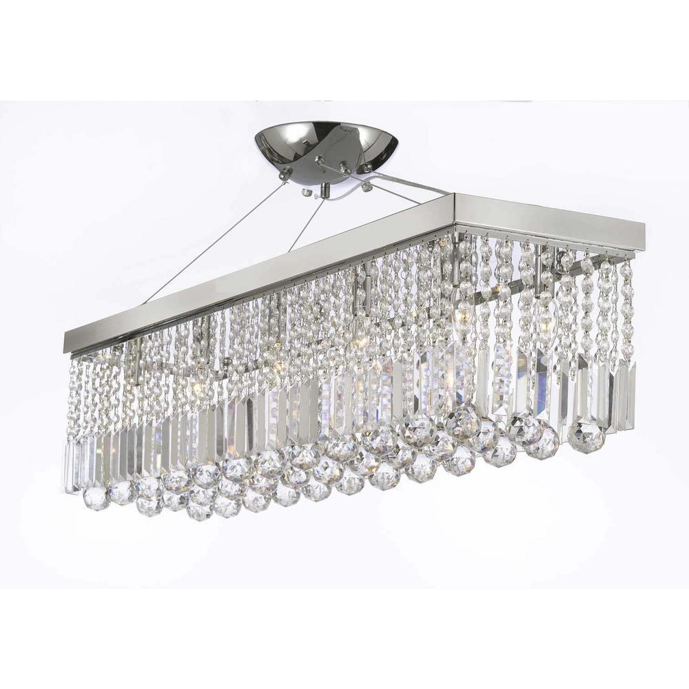 Crystal – Chandeliers – Lighting – The Home Depot In Famous Sparkly Chandeliers (View 7 of 15)
