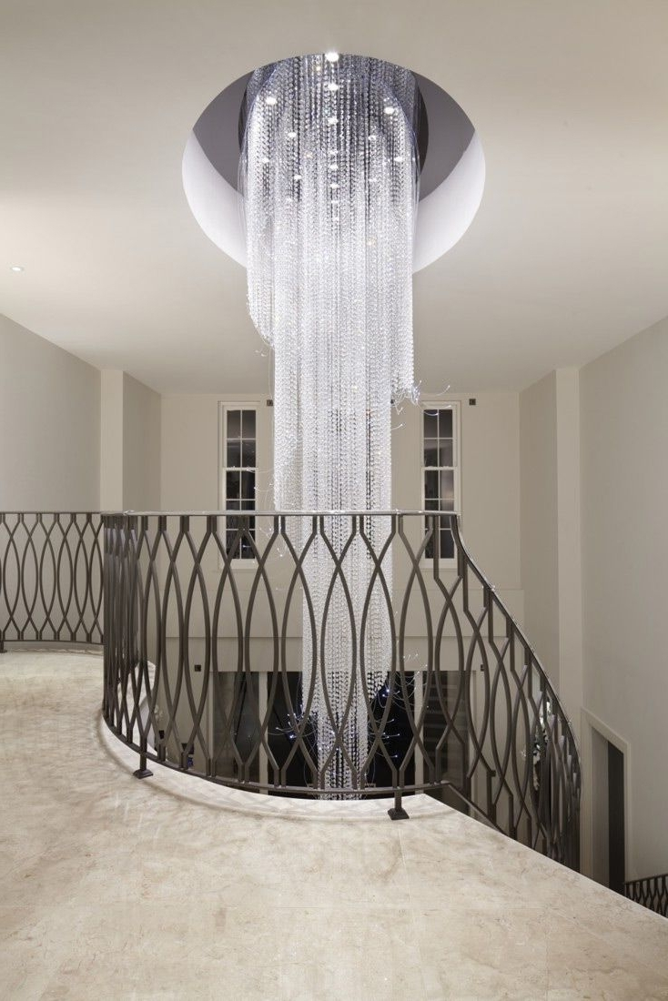 Crystal Within Long Modern Chandelier (View 3 of 15)