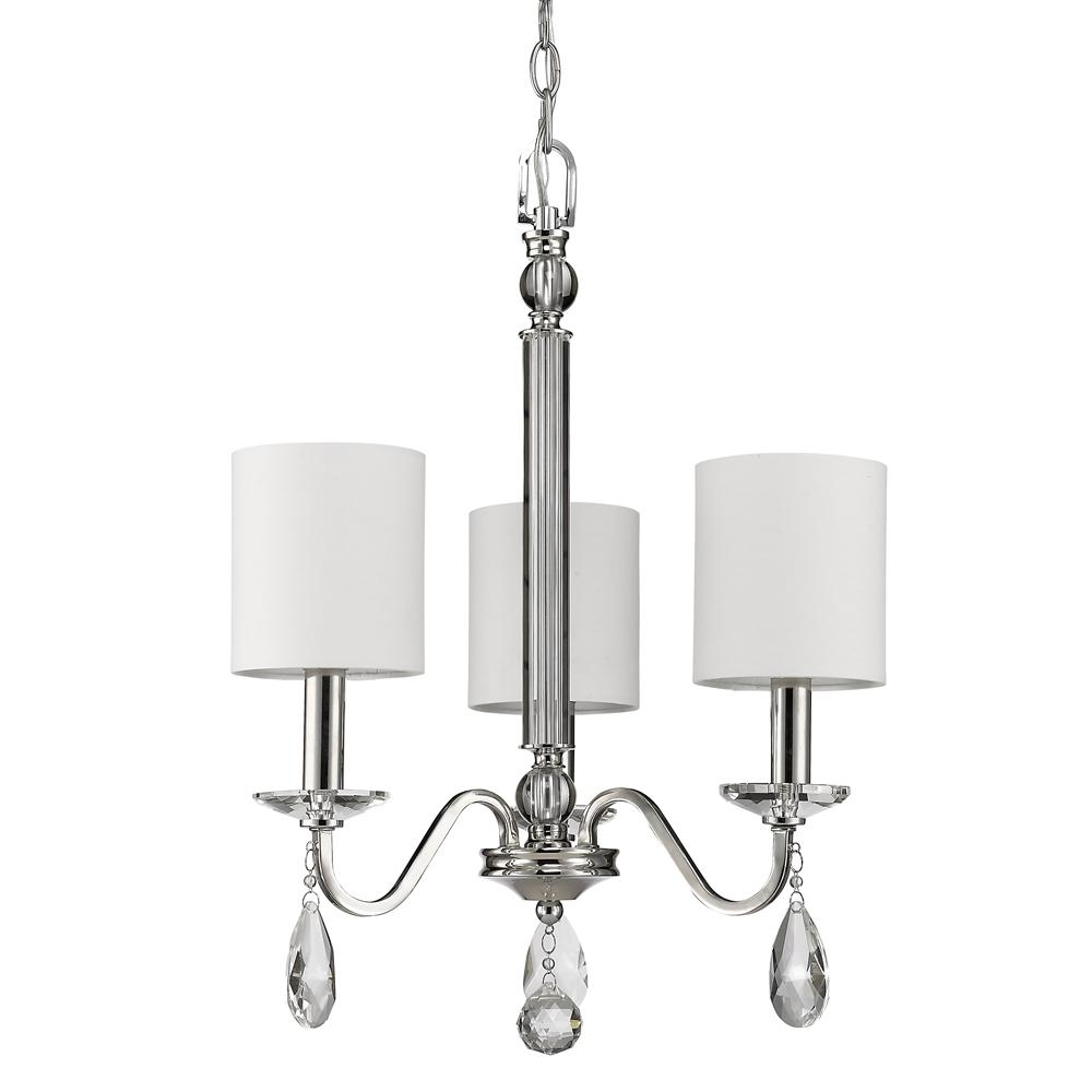 Current Acclaim Lighting Lily 3 Light Indoor Polished Nickel Mini Chandelier For Lily Chandeliers (View 11 of 15)