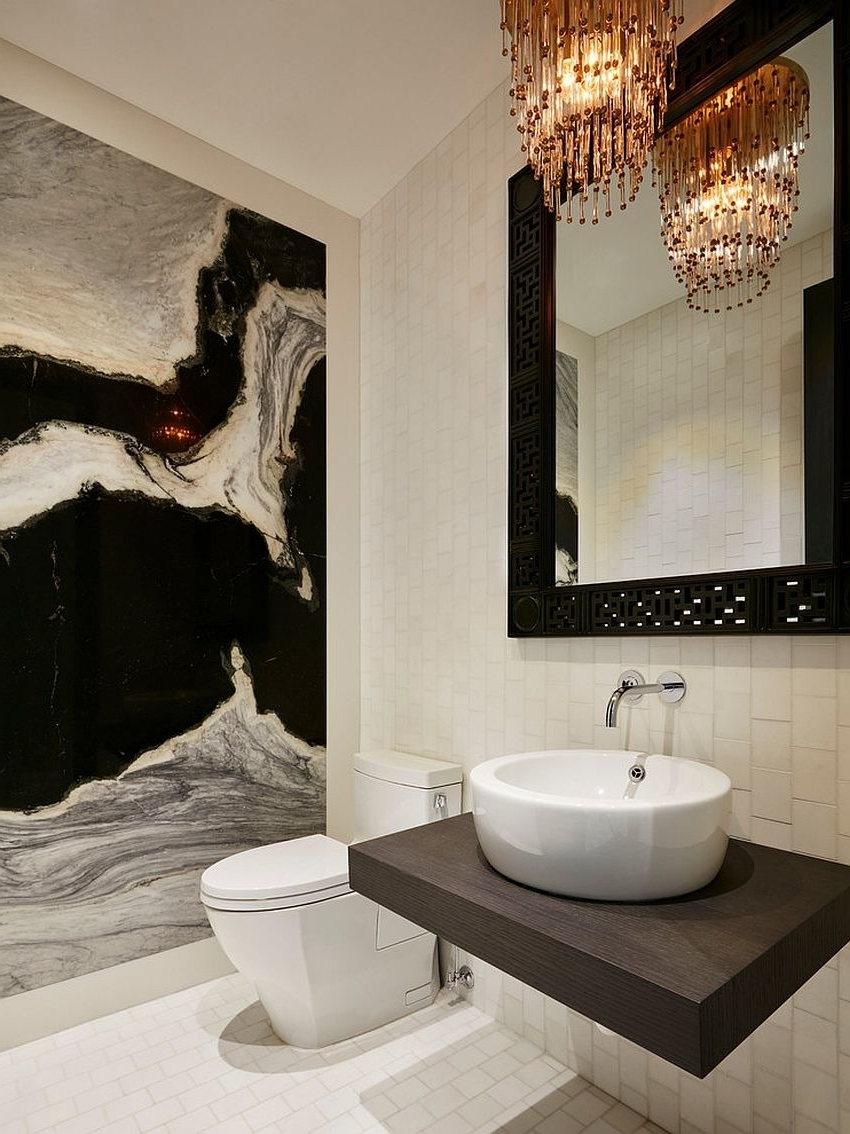Current Bathroom – Black And White Bathroom Crystal Chandelier Wall Mount In Wall Mounted Bathroom Chandeliers (View 2 of 15)