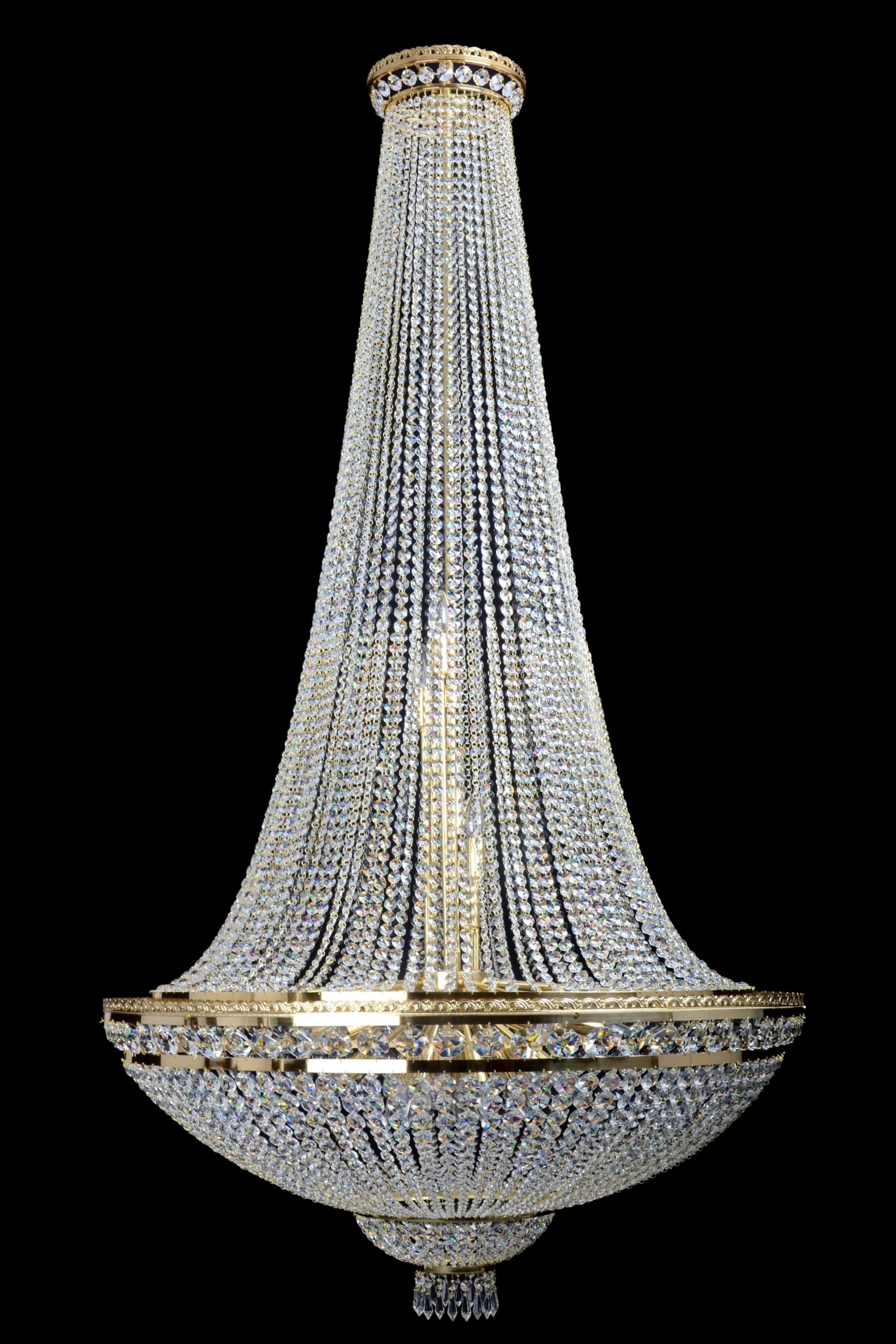 Current Ccb7150 21 Basket Style Empire Chandelier – The Crystal Chandelier Regarding Traditional Crystal Chandeliers (View 14 of 15)