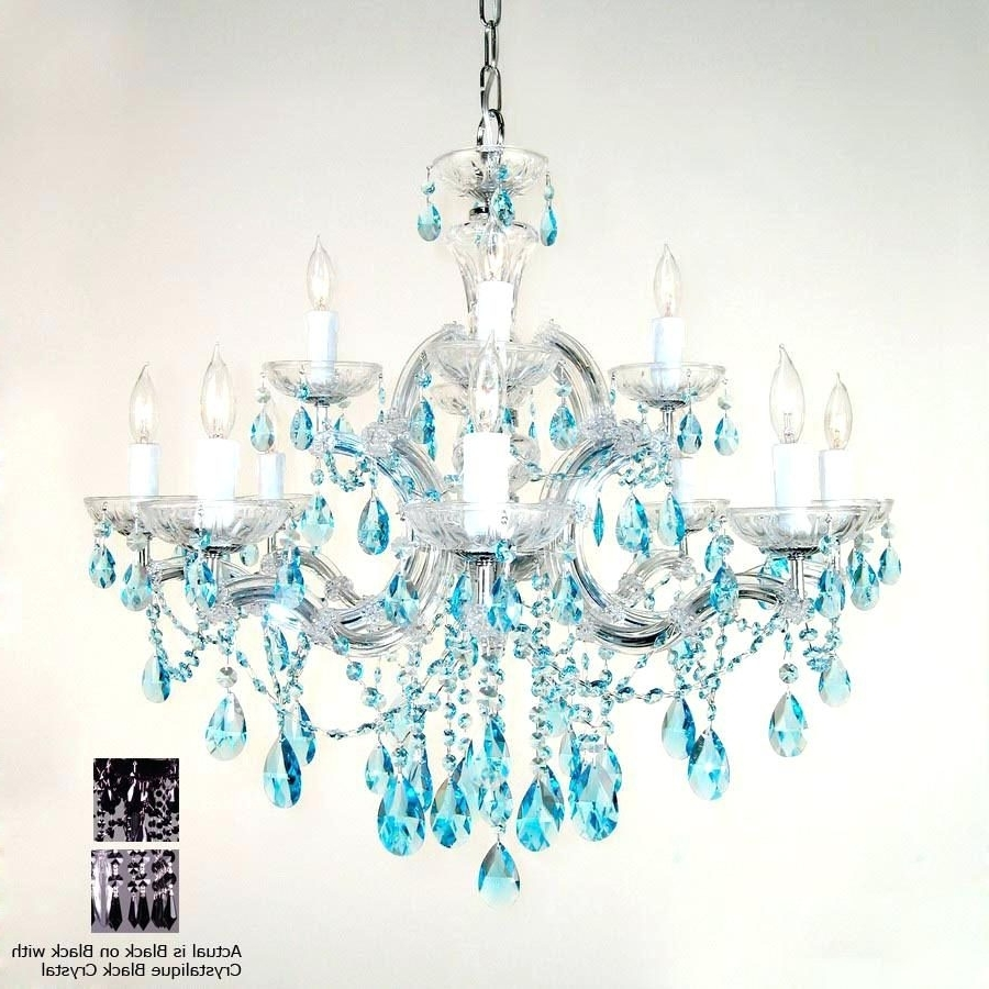 Current Chandelier : Turquoise Chandelier Crystals Classic Lighting Light Intended For Turquoise Chandelier Crystals (View 2 of 15)