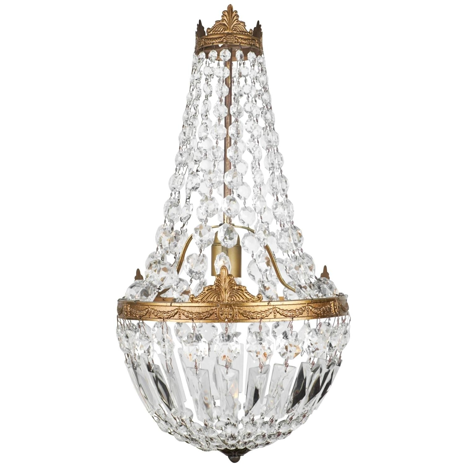 Current Chandeliers Design : Magnificent Gallery Empire Crystal Light Mini With Vintage Style Chandeliers (View 13 of 15)