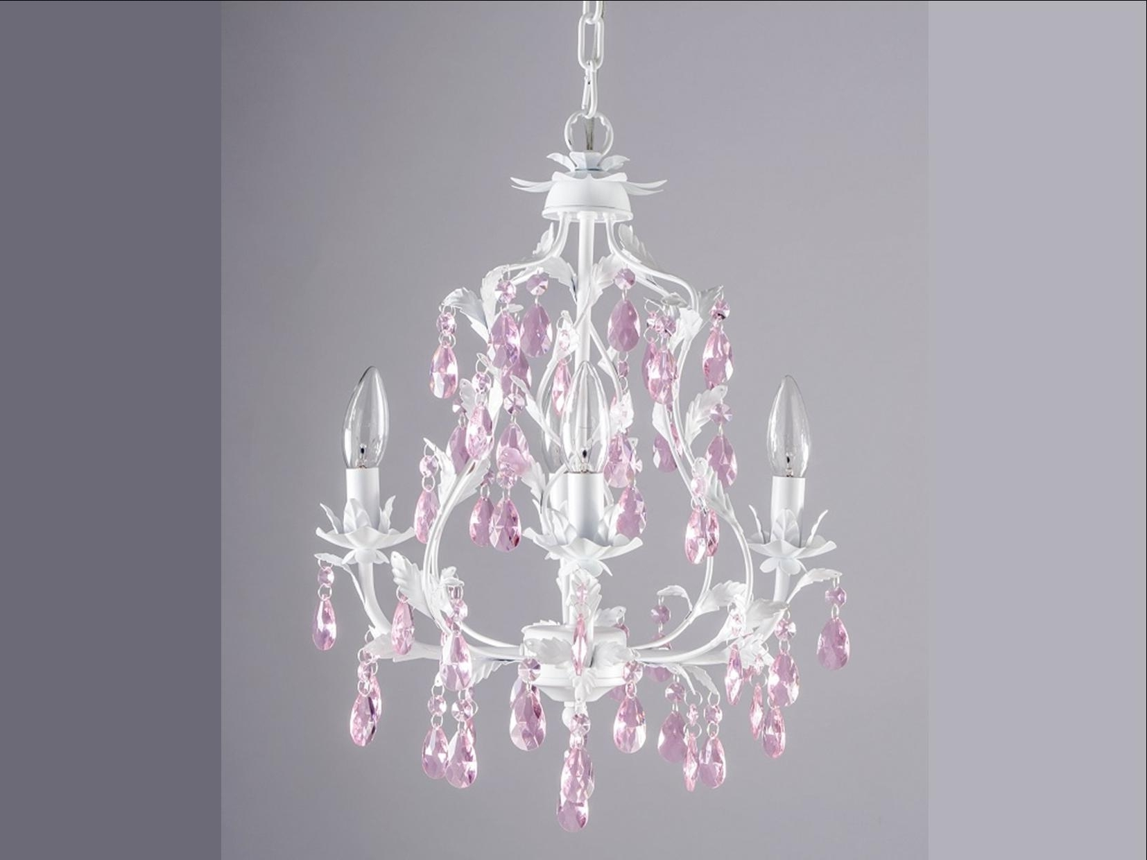 Current Childrens Pendant Lamp Shades Plug In Chandeliers For Kids Pink Inside Fuschia Chandelier (View 14 of 15)