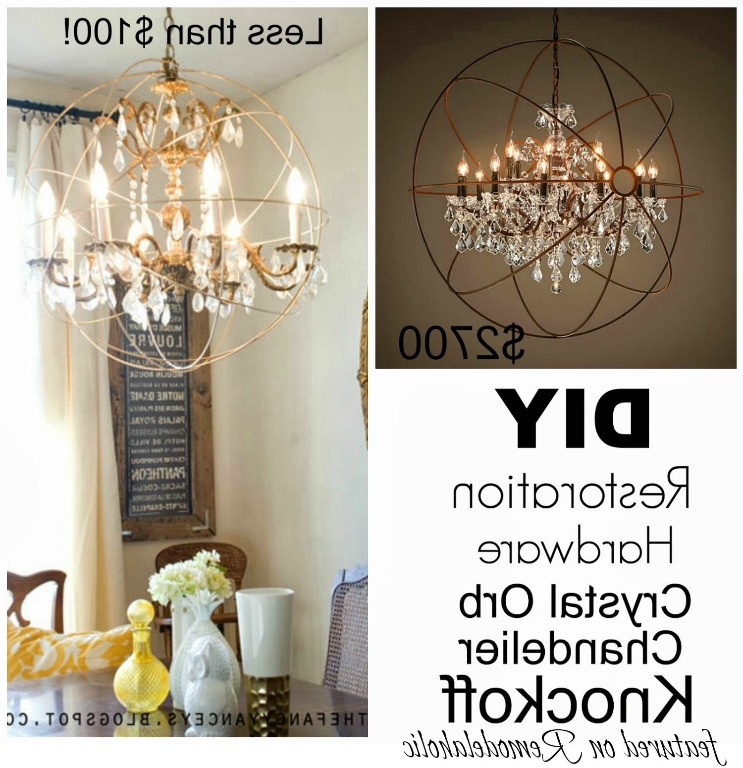 Current Faux Crystal Chandeliers In Best Diy Crystal Chandelier Residence Remodel Suggestion The Happy (View 9 of 15)