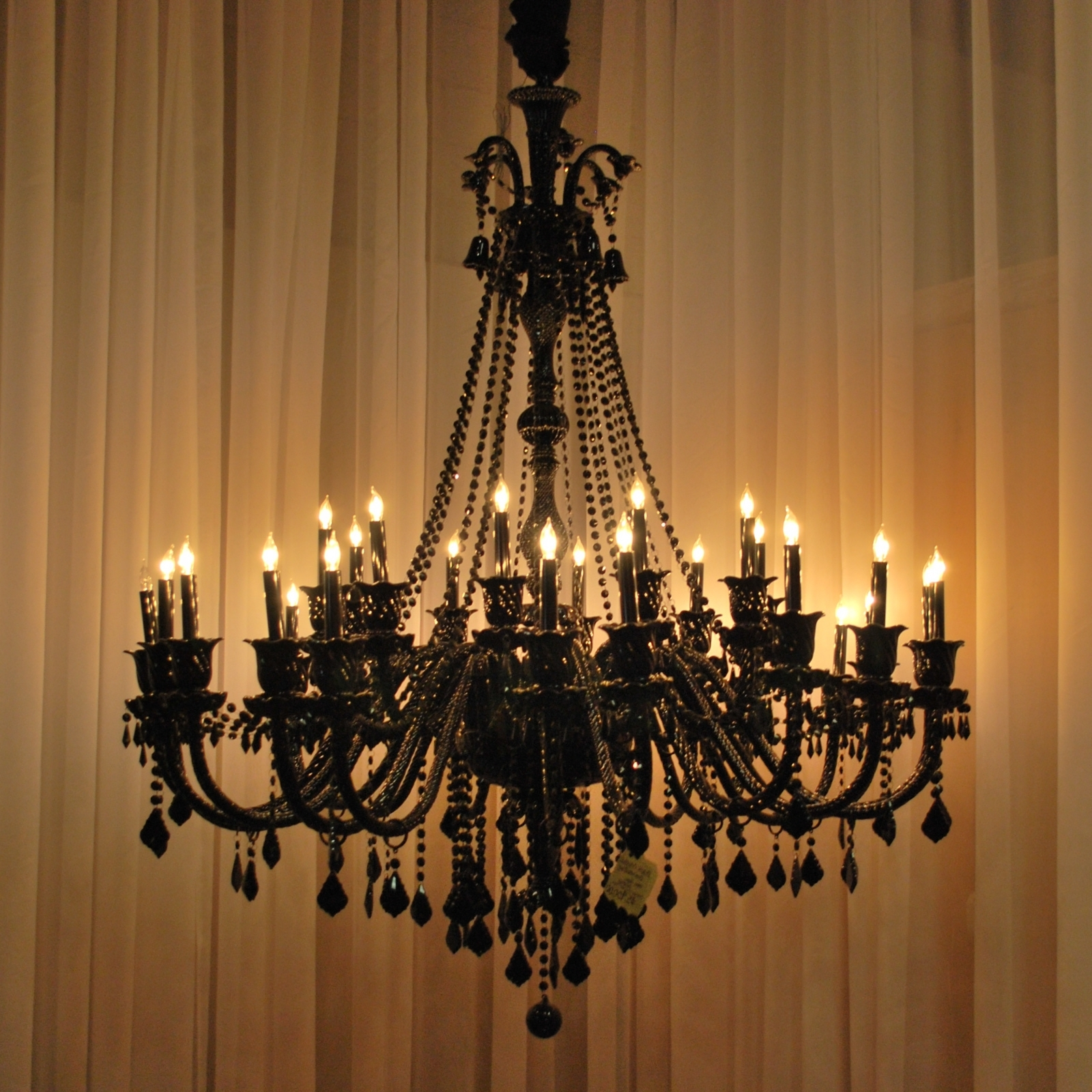 Current Huge Crystal Chandeliers Regarding How Can You Cover The Hole From An Old Chandelier? Answer: I See Two (View 14 of 15)