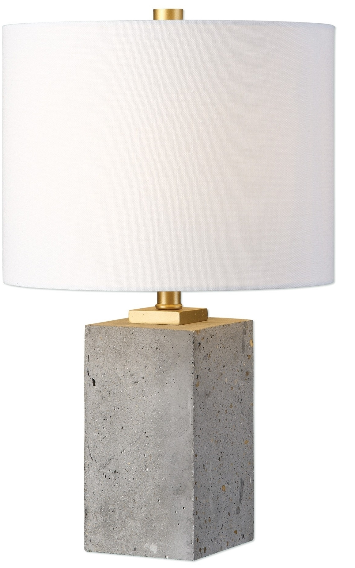 Current Turquoise Stone Chandelier Lighting Inside Shani Table Lamp Concrete  (View 12 of 15)