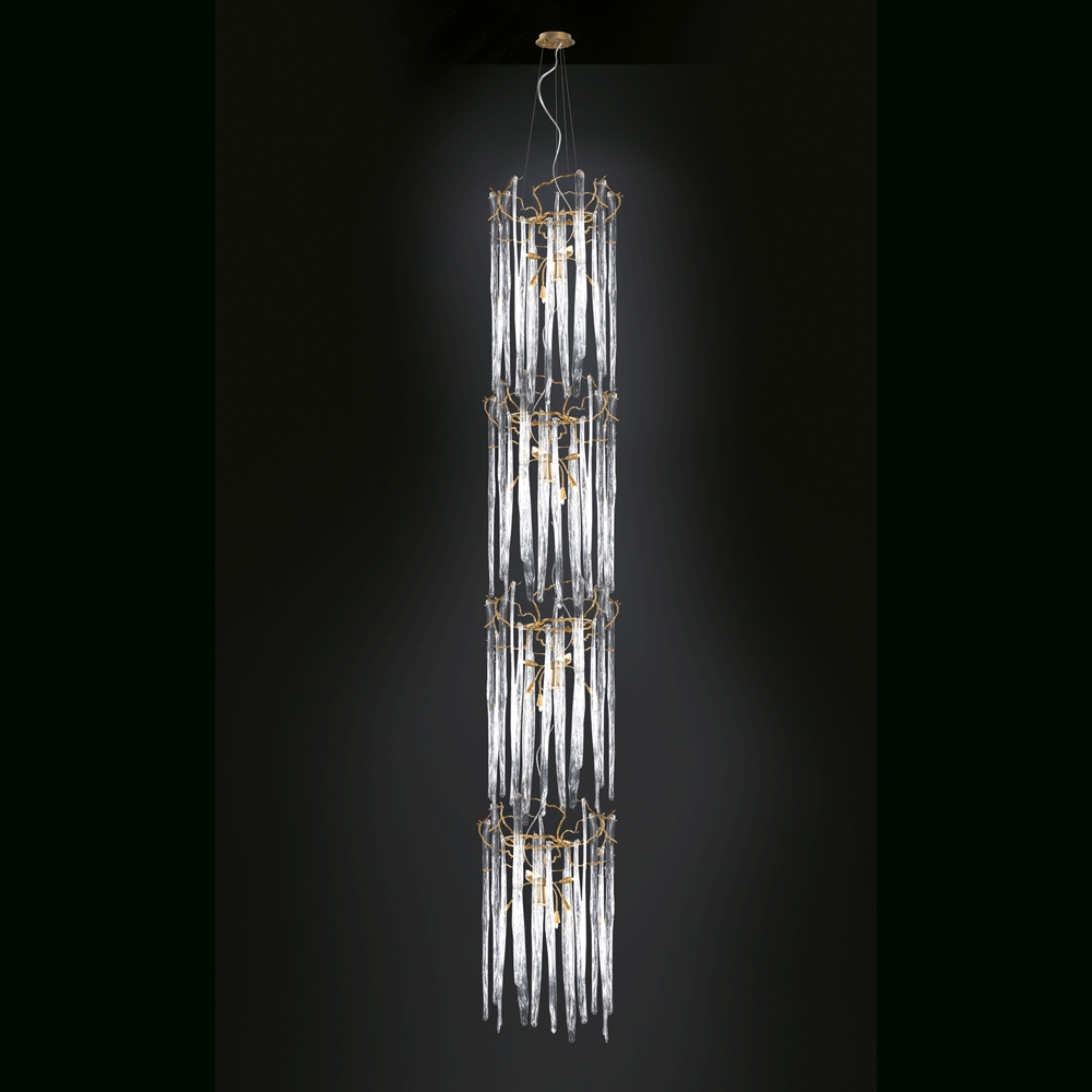 Current Waterfall Chandelier – Cylindrical (View 8 of 15)