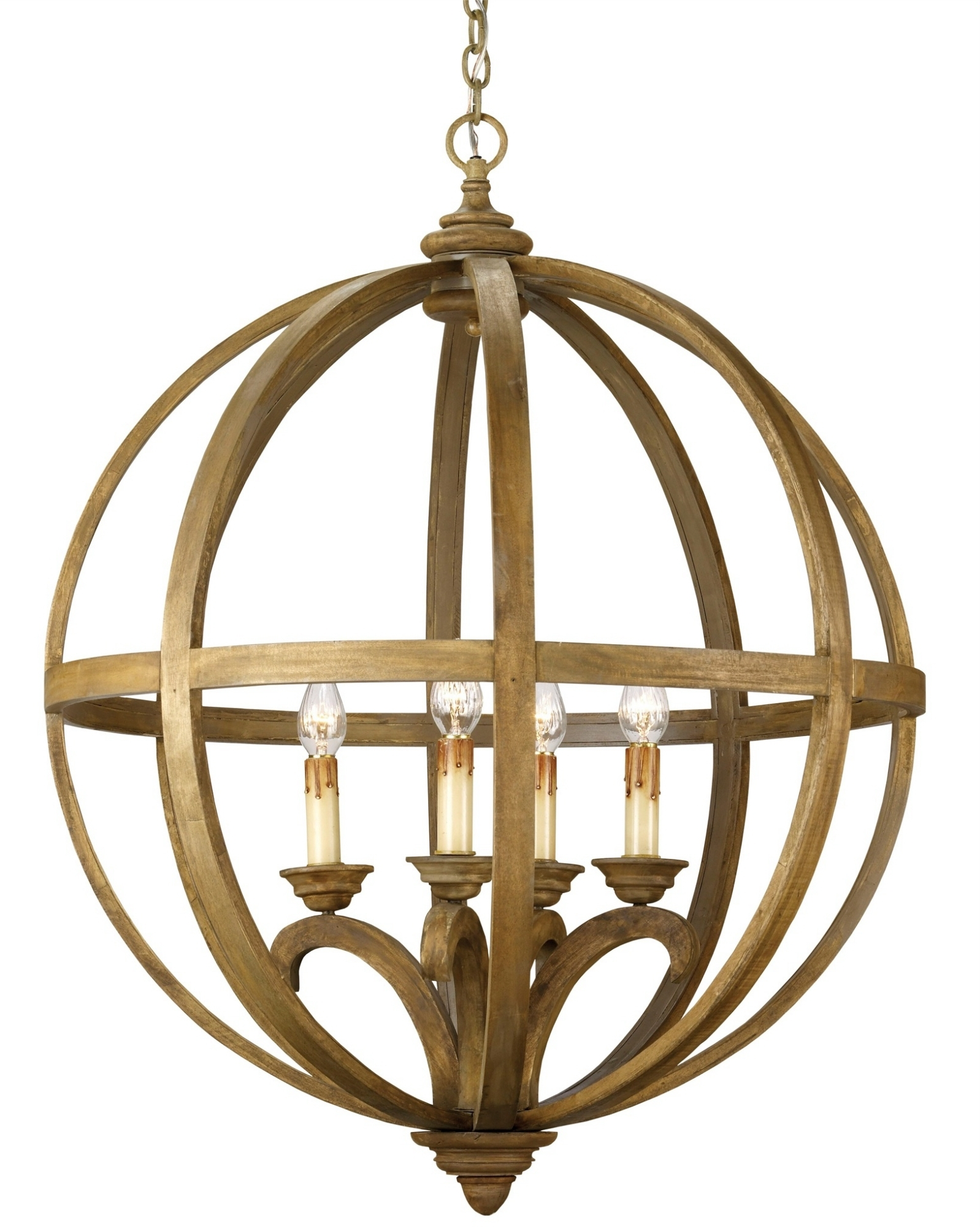 Currey And Company Inside Orb Chandelier (View 4 of 15)