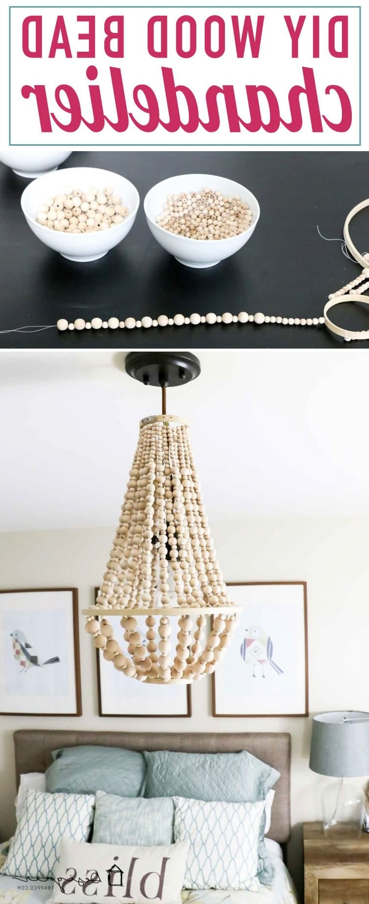 Diy Chandelier From Wood Beads (View 10 of 15)