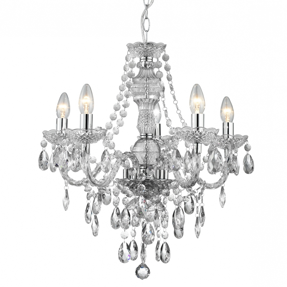 Endon Lighting Chandeliers Intended For Most Recent Chandelier ~ Traditional Multi Arm Ceiling Lights (Gallery 12 of 15)