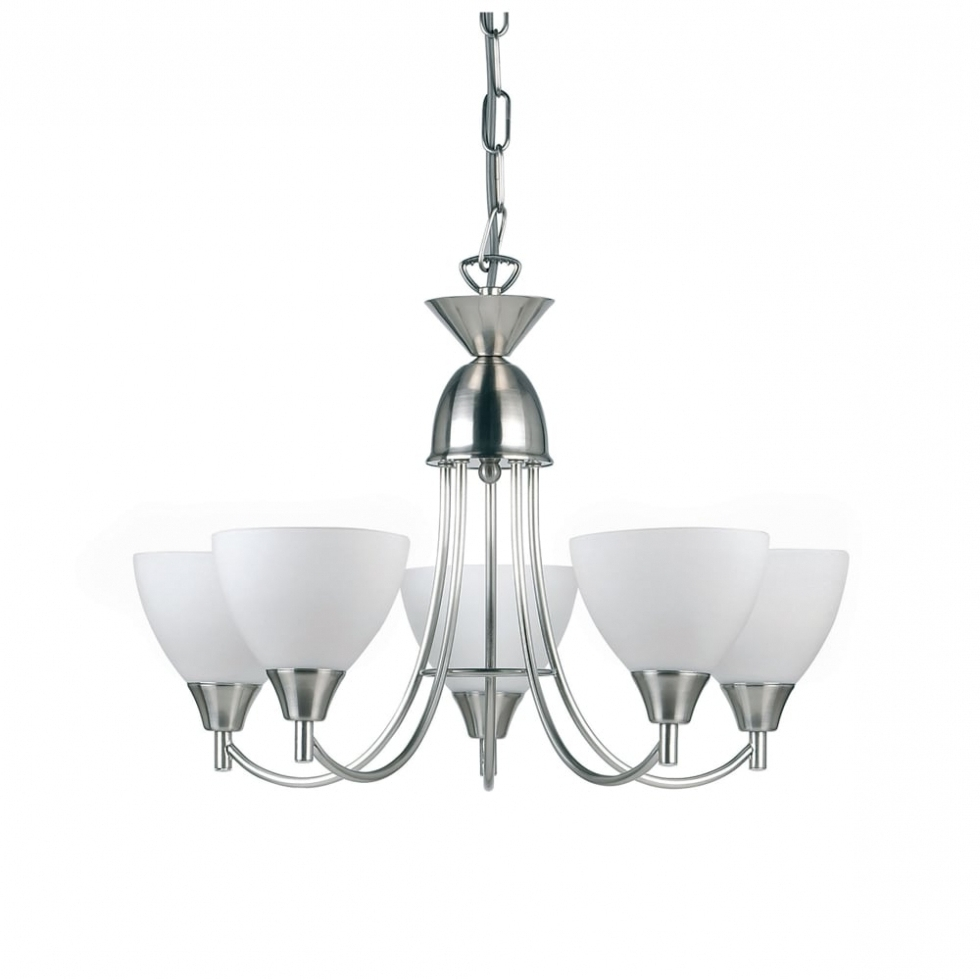 Endon Lighting Chandeliers With Preferred Chandelier ~ Endon Lighting Alton 5 Light Ceiling Fitting In Satin (Gallery 15 of 15)