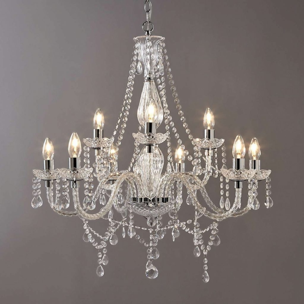 Endon Lighting Chandeliers Within Latest Chandelier ~ Bryony Chrome 9 Light Chandelier (Gallery 2 of 15)