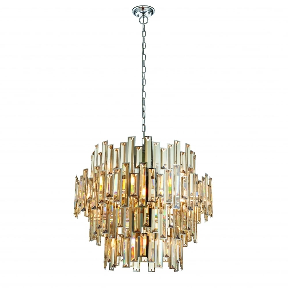 Endon Lighting Endon Lighting Viviana 15 Light Pendant – Chrome For Well Liked Endon Lighting Chandeliers (View 14 of 15)