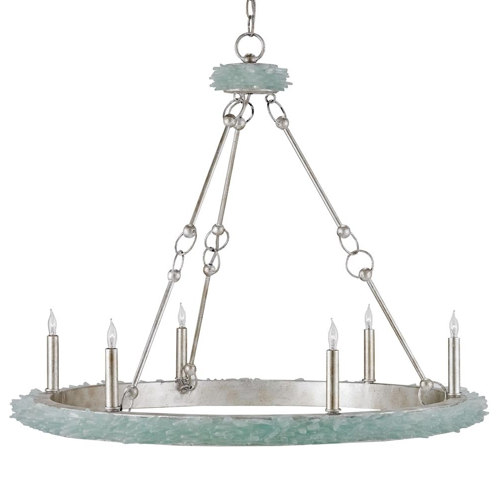 Everything Turquoise pertaining to Well-liked Turquoise Beads Six-Light Chandeliers